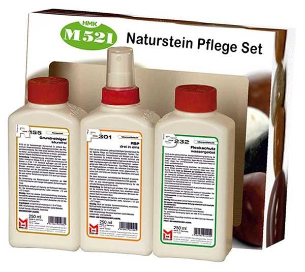 HMK® M521 Naturstein Pflegeset - lösemittelfrei